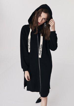 SLOGAN LACE - Zip-up hoodie - black