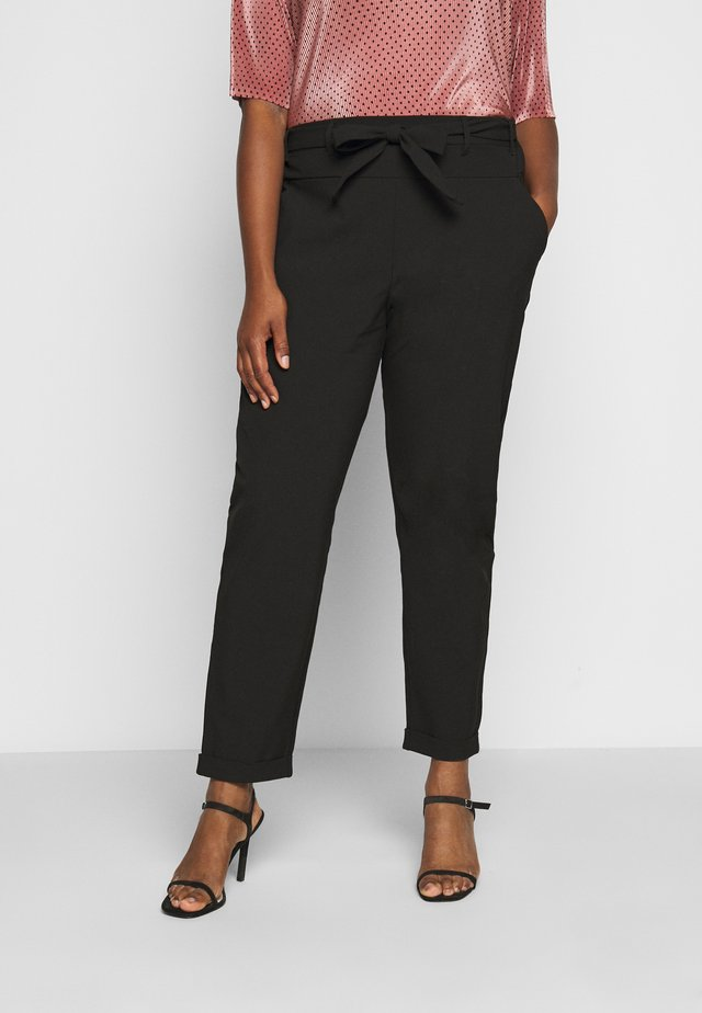 JIA BELT PANTS - Tygbyxor - black deep