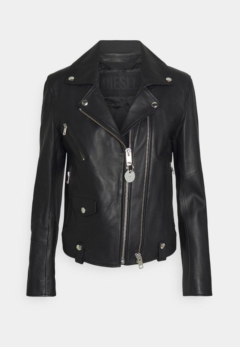 Diesel - L-LYFA - Leather jacket - black