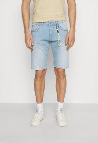 TOM TAILOR DENIM - REGULAR FIT - Denim shorts - heavy bleached blue denim - 0
