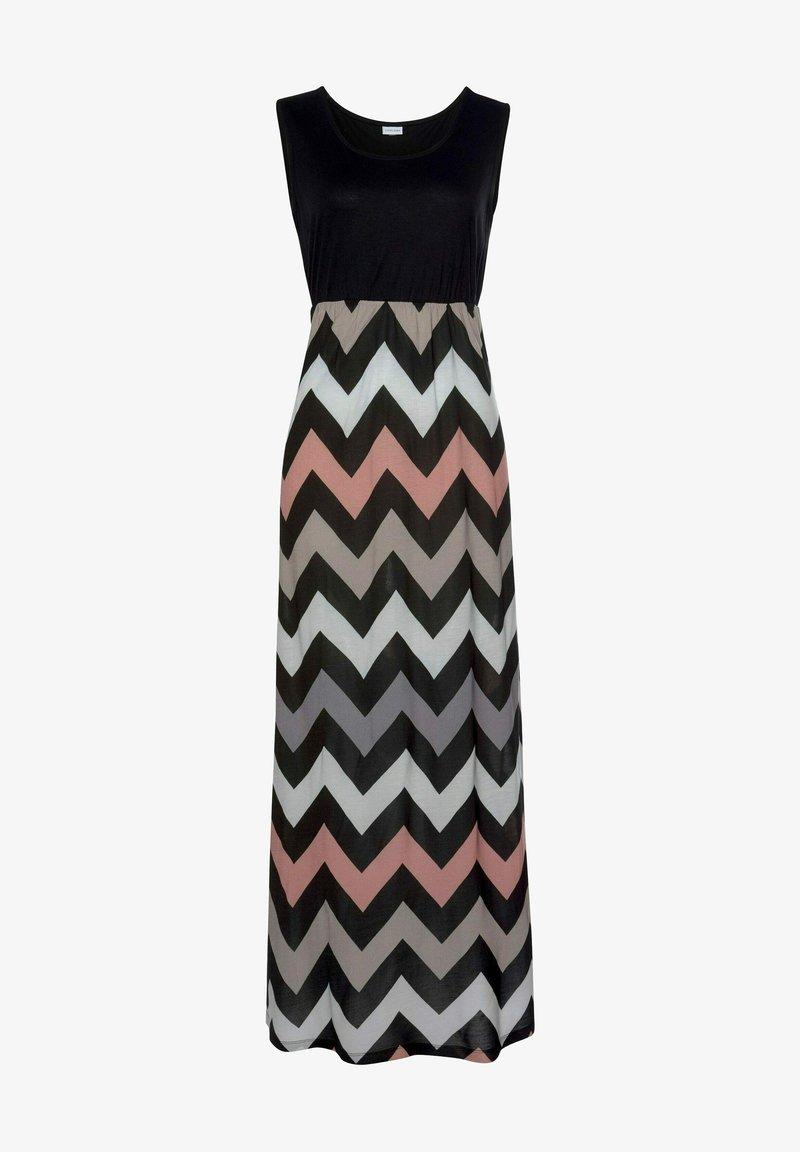 LASCANA - Maxi dress - schwarz-rose-creme-taupe