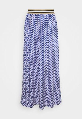FORGET - A-line skirt - blue