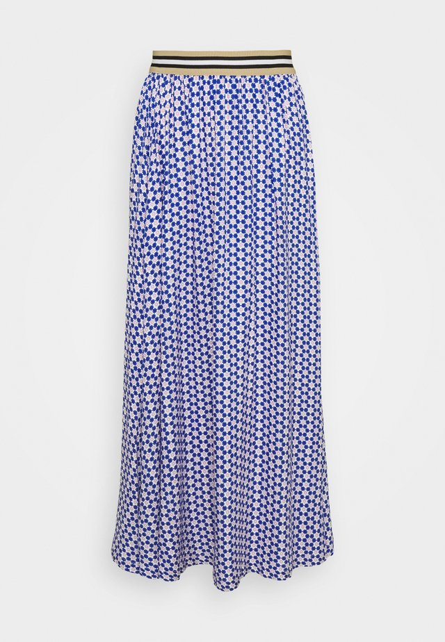 FORGET - A-line skirt - blue