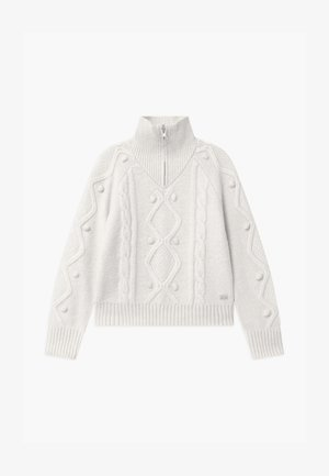 HALF-ZIP - Strickpullover - off white