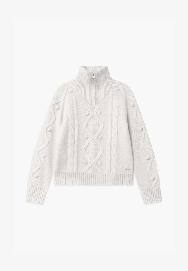 HALF-ZIP - Strikkegenser - off white