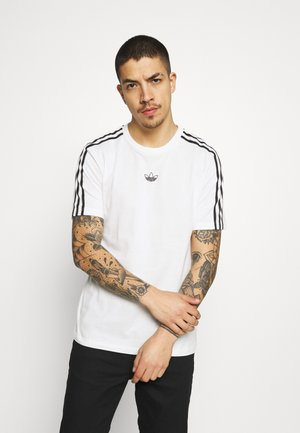 STRIPE UNISEX - Print T-shirt - chalk white