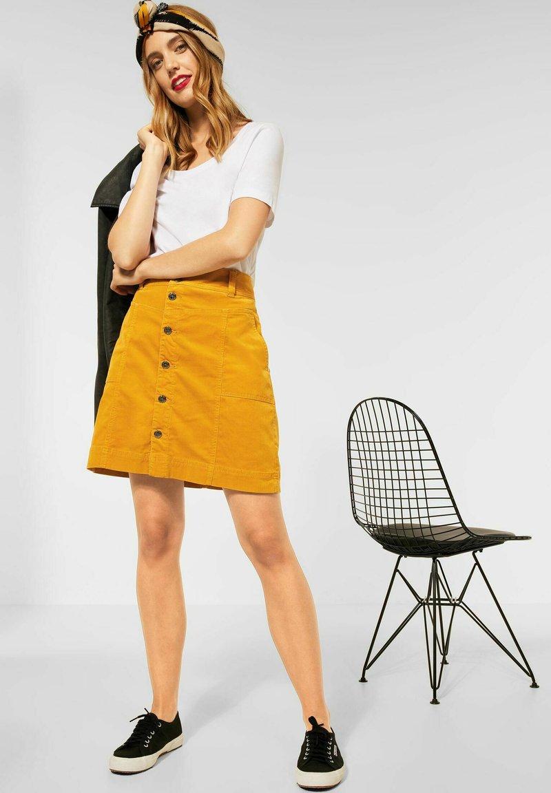 Street One - Mini skirt - gelb