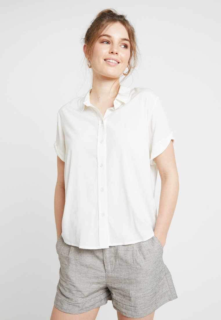 Samsøe Samsøe - MAJAN - Button-down blouse - clear cream