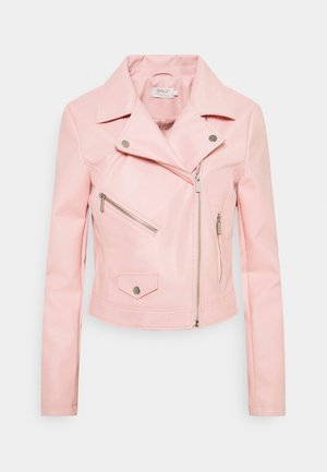 ONLENYA BIKER - Faux leather jacket - rose smoke