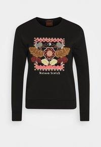 Scotch & Soda - CREWNECK EMBROIDERED ARTWORK - Sweater - black - 4