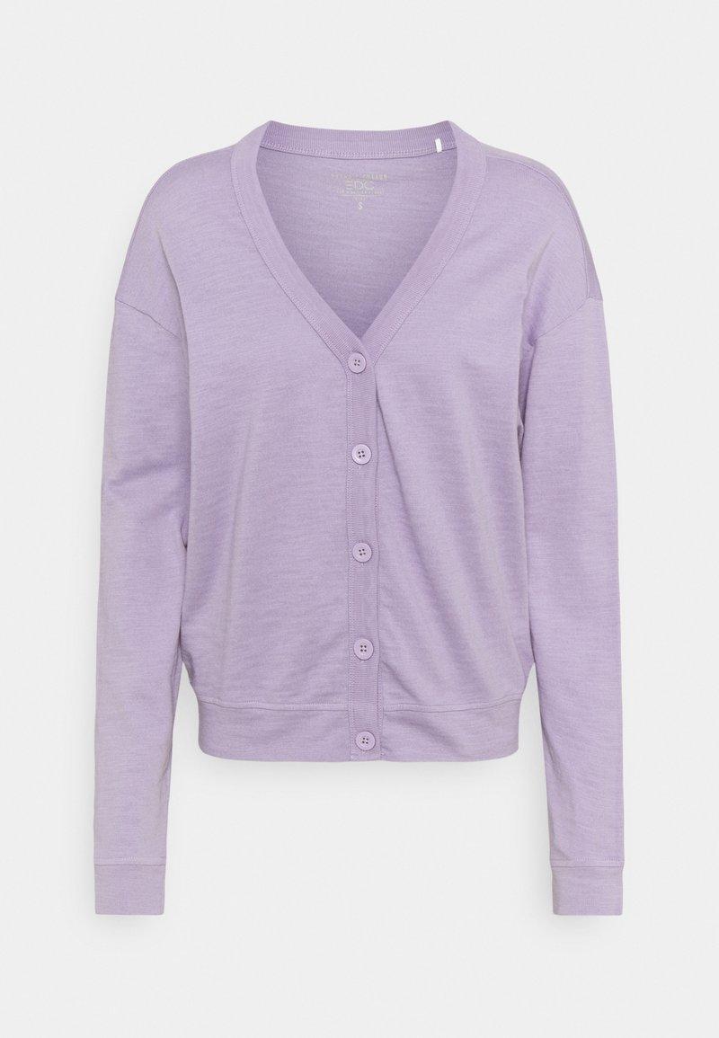 edc by Esprit - CARDIGAN - Cardigan - purple