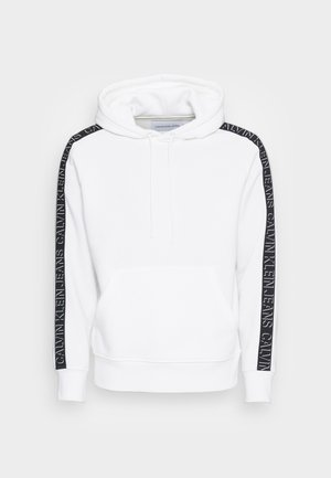 SHADOW LOGO TAPE SLEEVES HOODIE - Sweatshirt - bright white