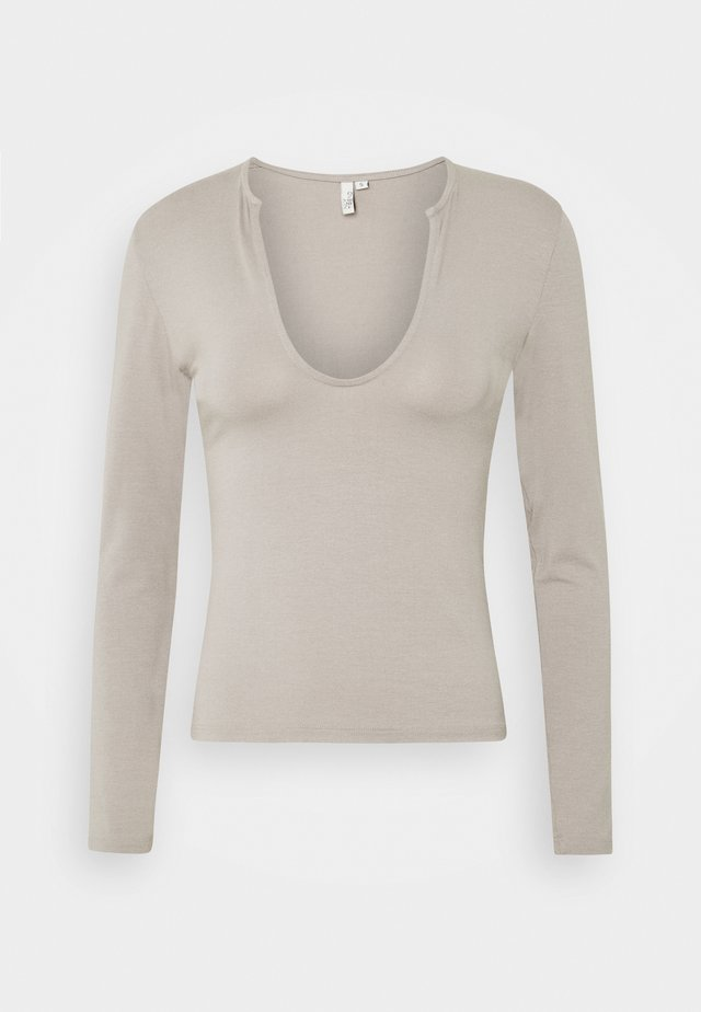 FRONT DETAIL - Long sleeved top - gray