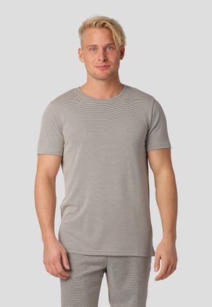 T-shirt med print - bubbly beige