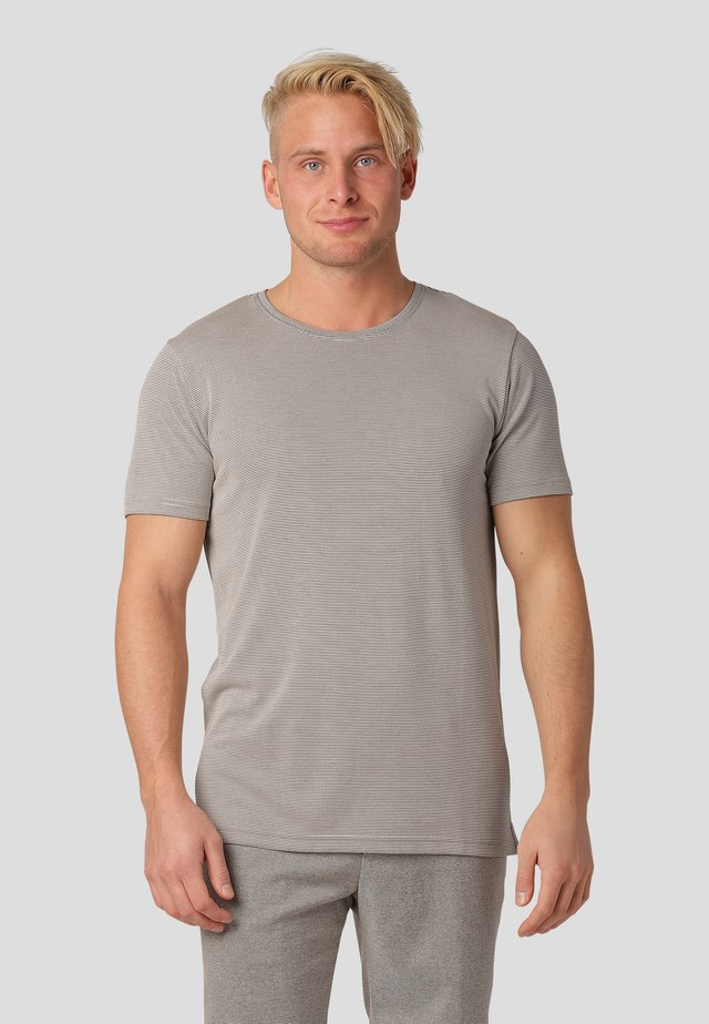 Print T-shirt - bubbly beige