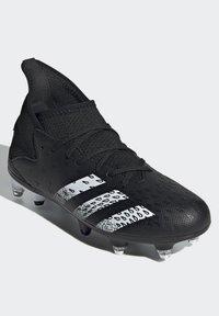 adidas Performance - PREDATOR - Moulded stud football boots - black - 4