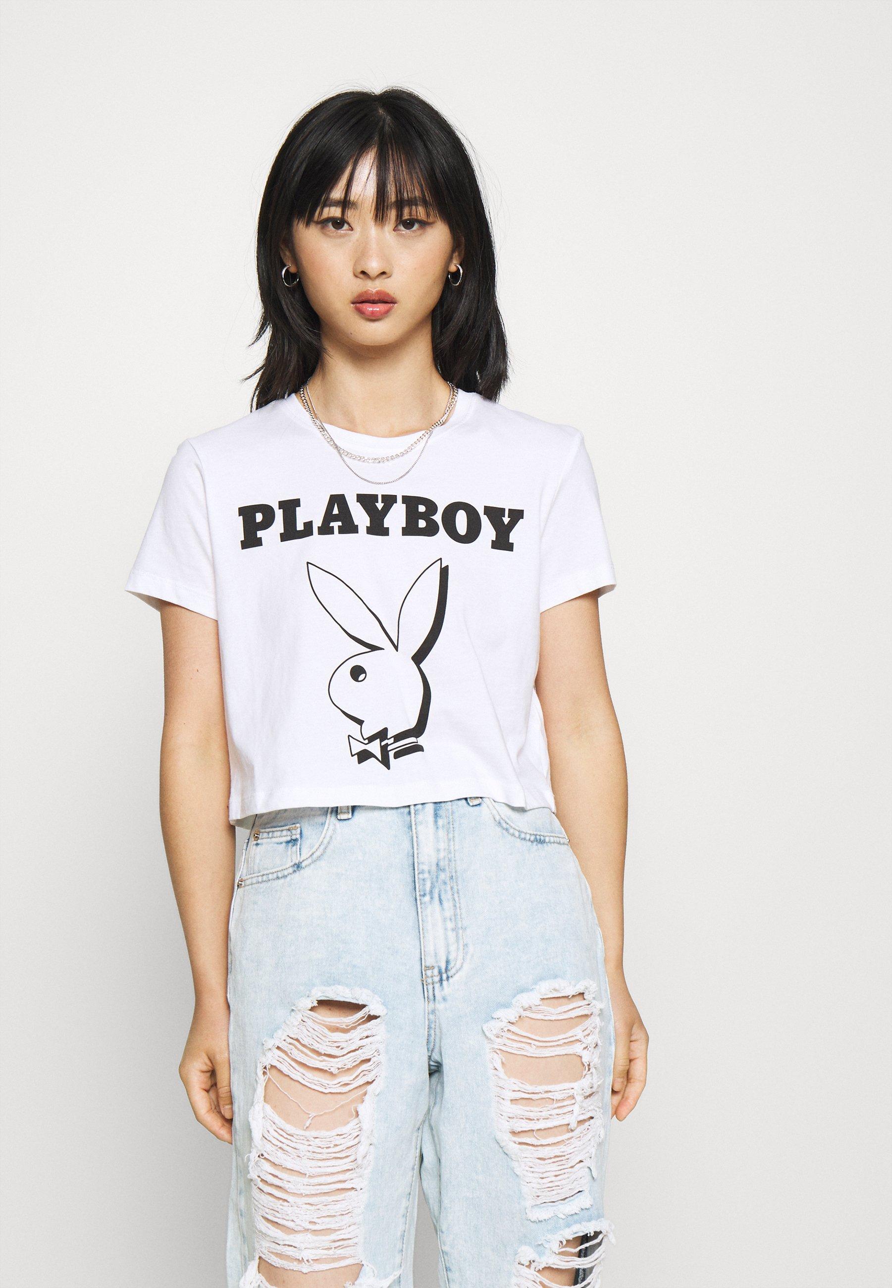 Women ONLPLAYBOY LIFE CROP - Print T-shirt