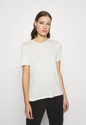 SILK MIX T-SHIRT  - T-shirts - offwhite