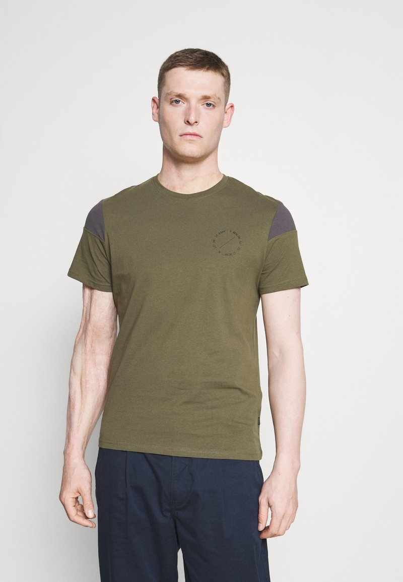 Pier One - Print T-shirt - olive, dark grey