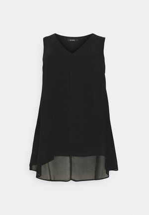 SLEEVELESS SPLIT FRONT - Blouse - black
