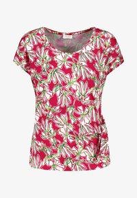 Gerry Weber - Print T-shirt - azalea weiß palm druck - 0