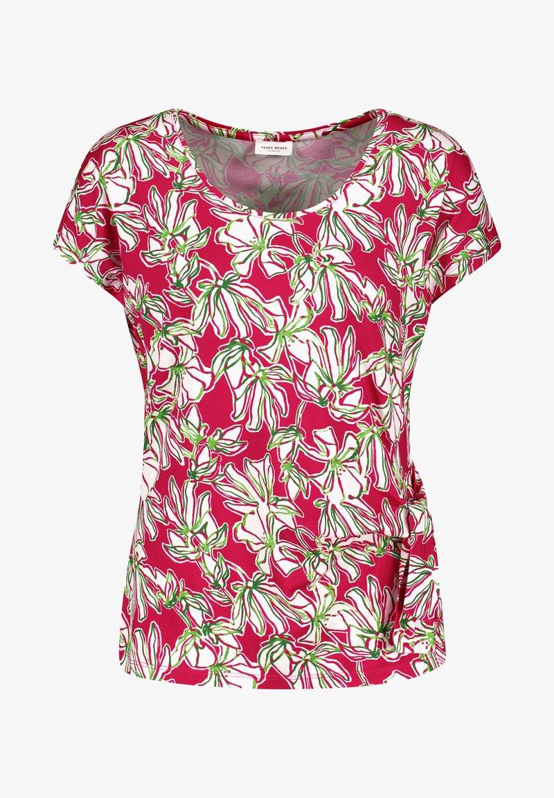 Gerry Weber - Print T-shirt - azalea weiß palm druck