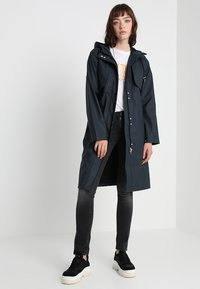YAS - YASRAINA RAIN COAT - Waterproof jacket - carbon - 1