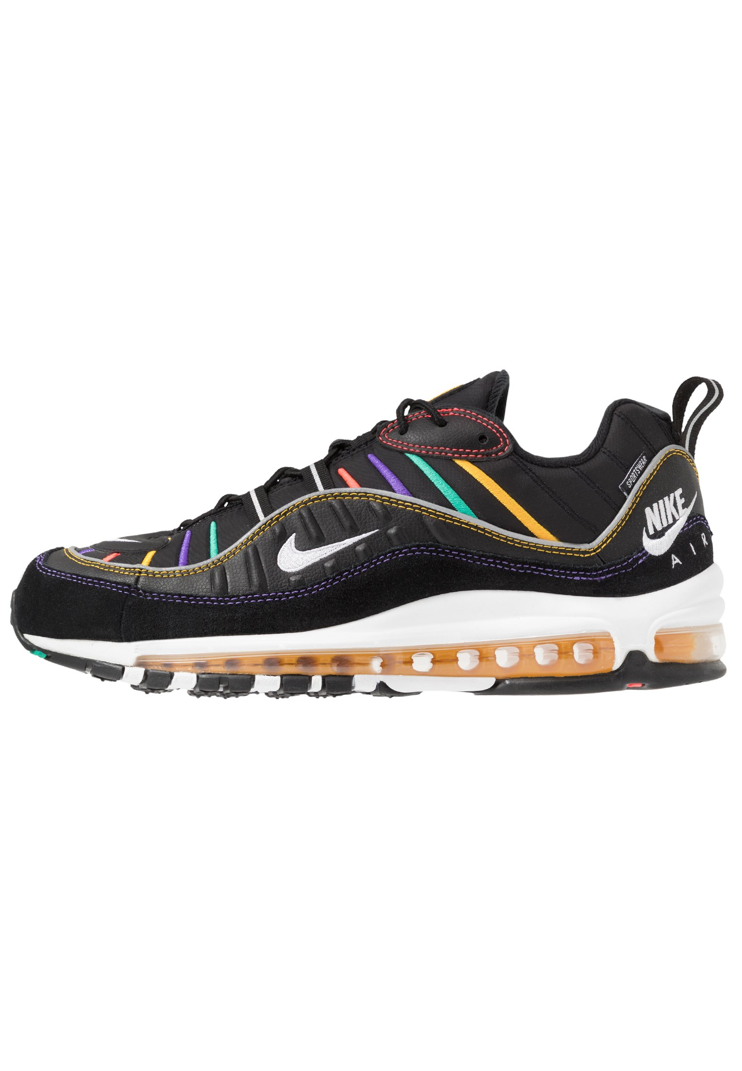 AIR MAX 98 PRM - Sneakers laag - black/flash crimson/kinetic green/psychic  purple/university gold/white