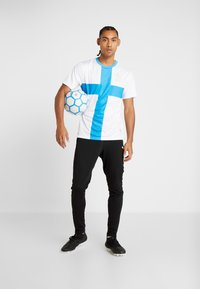 Puma - OLYMPIQUE MARSAILLE REPLICA WITH SPONSOR - Sports shirt - white/bleu azur - 1