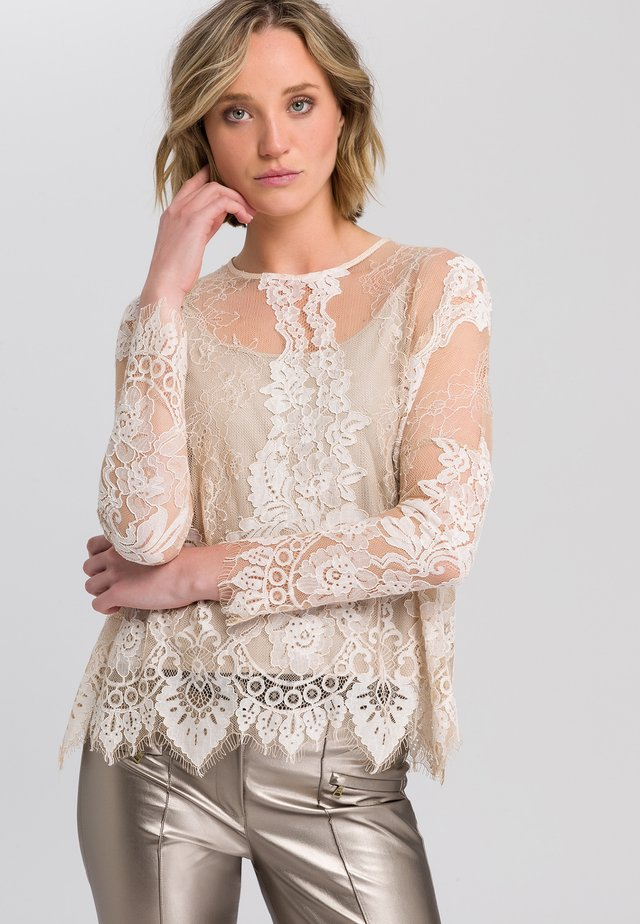 Blouse - creme varied