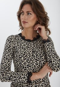 Fransa - FXTEMOND  - Long sleeved top - oxford tan mix - 3