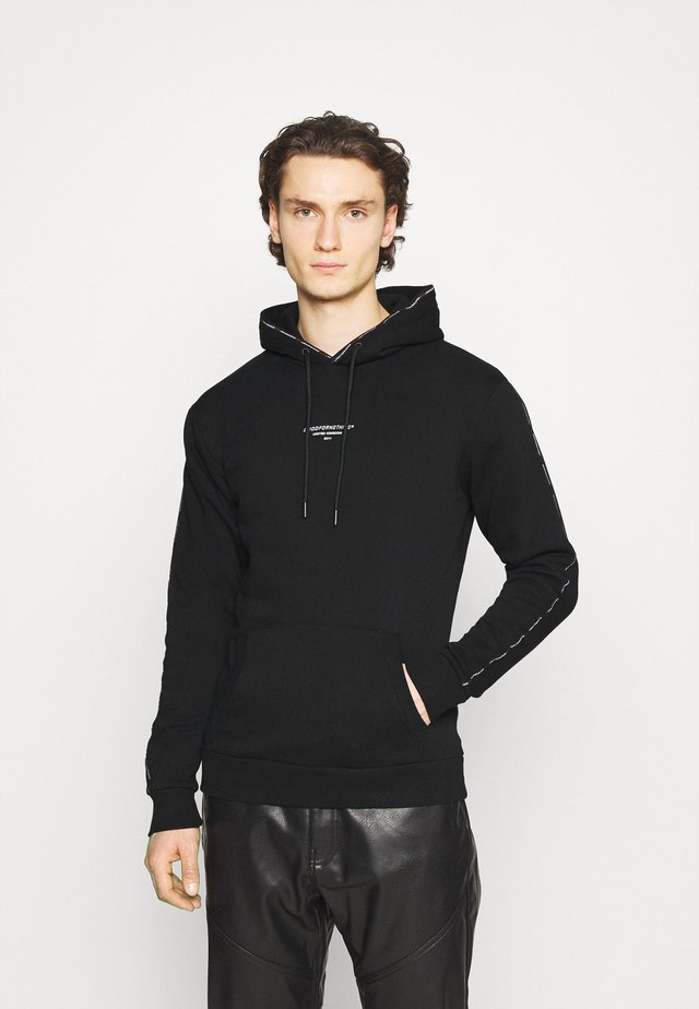 MICRO TAPED BRANDED HOOD - Sweatshirt - black