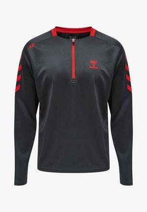 Sweater - ebony/flame scarlet