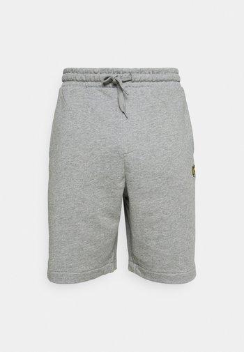 SIDE STRIPE - Shorts - mid grey marl