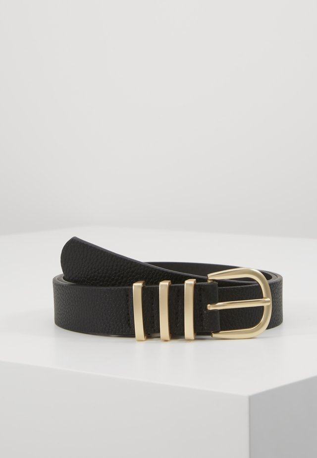 PCLEA JEANS BELT - Pasek - black/gold