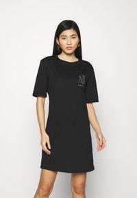 Armani Exchange - VESTITO - Jersey dress - black - 0