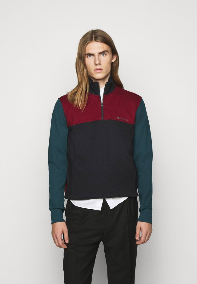 HALF ZIP - Sweatshirt - dark blue/red