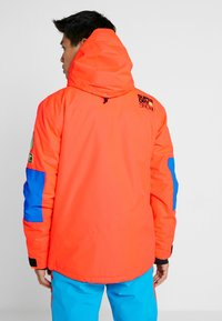 Superdry - MOUNTAIN JACKET - Laskettelutakki - hazard orange/acid cobalt - 2