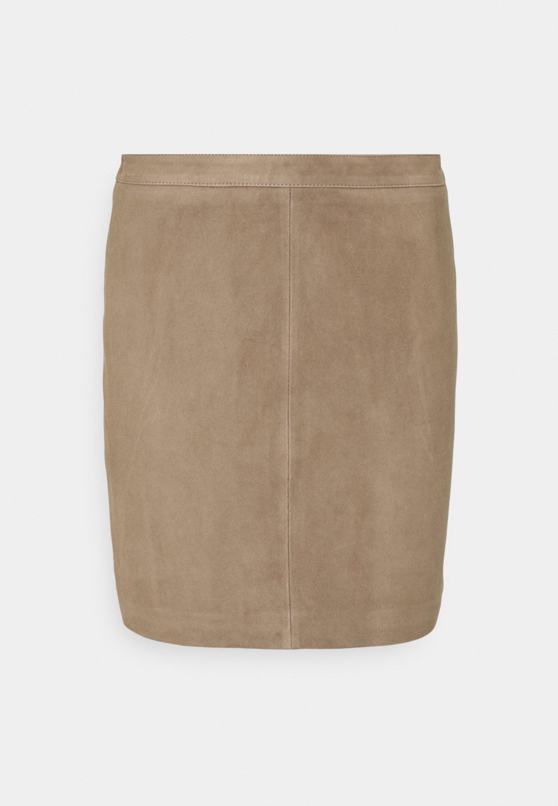 Women OBJCHLOE SKIRT SEASONAL - Leather skirt