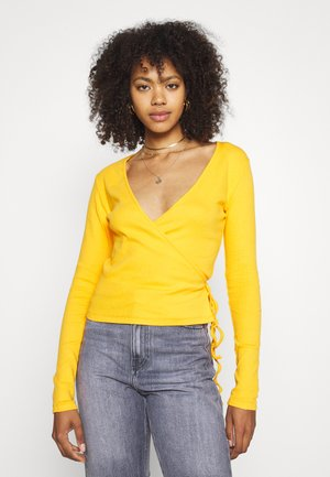 ENALLY TEE - Long sleeved top - cadmium yellow