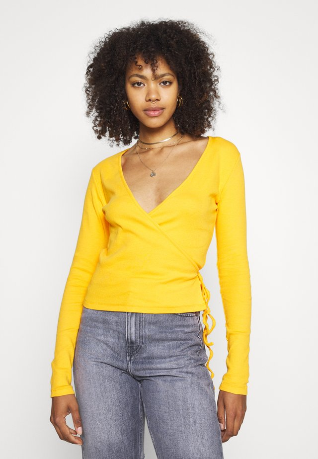 ENALLY - Long sleeved top - cadmium yellow
