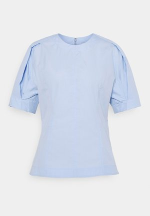 BACK ZIP - Blouse - oxford blue