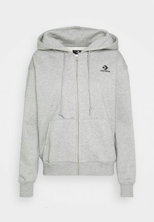 WOMENS FOUNDATION FULL ZIP HOODIE - Huvtröja med dragkedja - grey