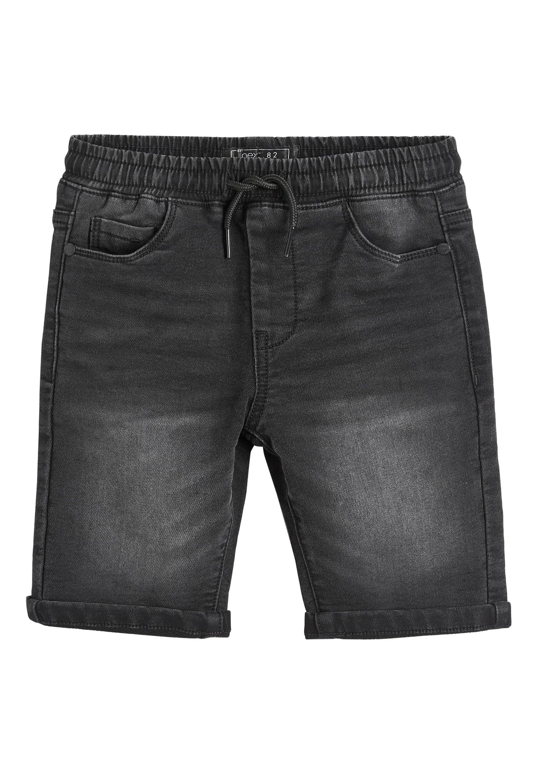 Kinder BLACK JERSEY JEAN SHORTS (3-16YRS) - Jeans Shorts