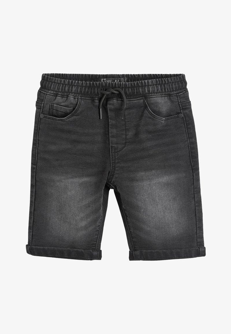 Next - BLACK JERSEY JEAN SHORTS (3-16YRS) - Denim shorts - black
