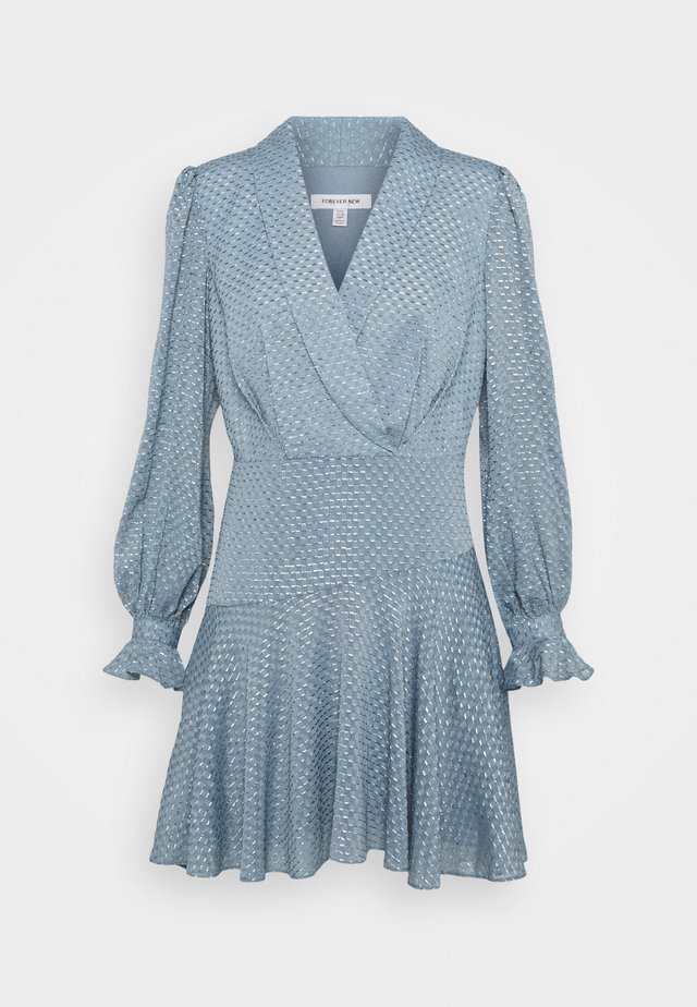 DOBBY DRESS - Cocktailjurk - blue