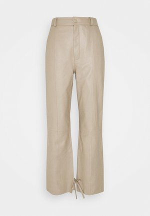 NIO - Leather trousers - pure cashmere