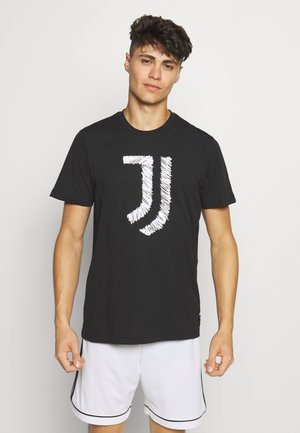 JUVENTUS FOOTBALL SHORT SLEEVE GRAPHIC TEE - Vereinsmannschaften - black/white