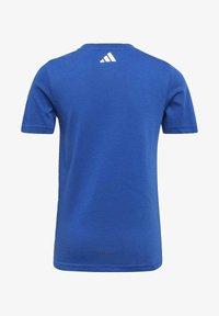 adidas Performance - COTTON T-SHIRT - Print T-shirt - blue - 1