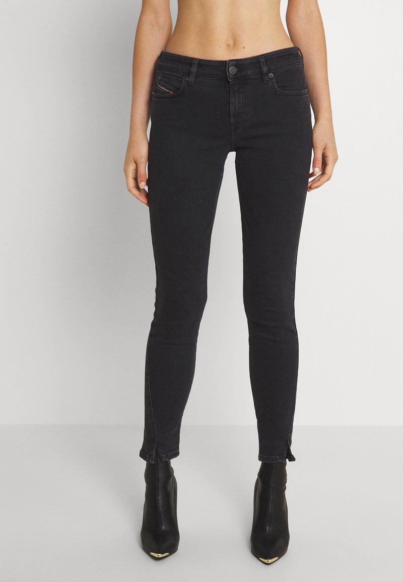 Diesel - D-JEVEL - Jeans Skinny Fit - washed black